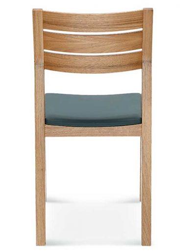 Silla madera de haya o roble Lennox, Espalda, para hostelería