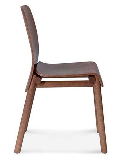 Silla madera de haya o roble Nod 1, Perfil, para hostelería