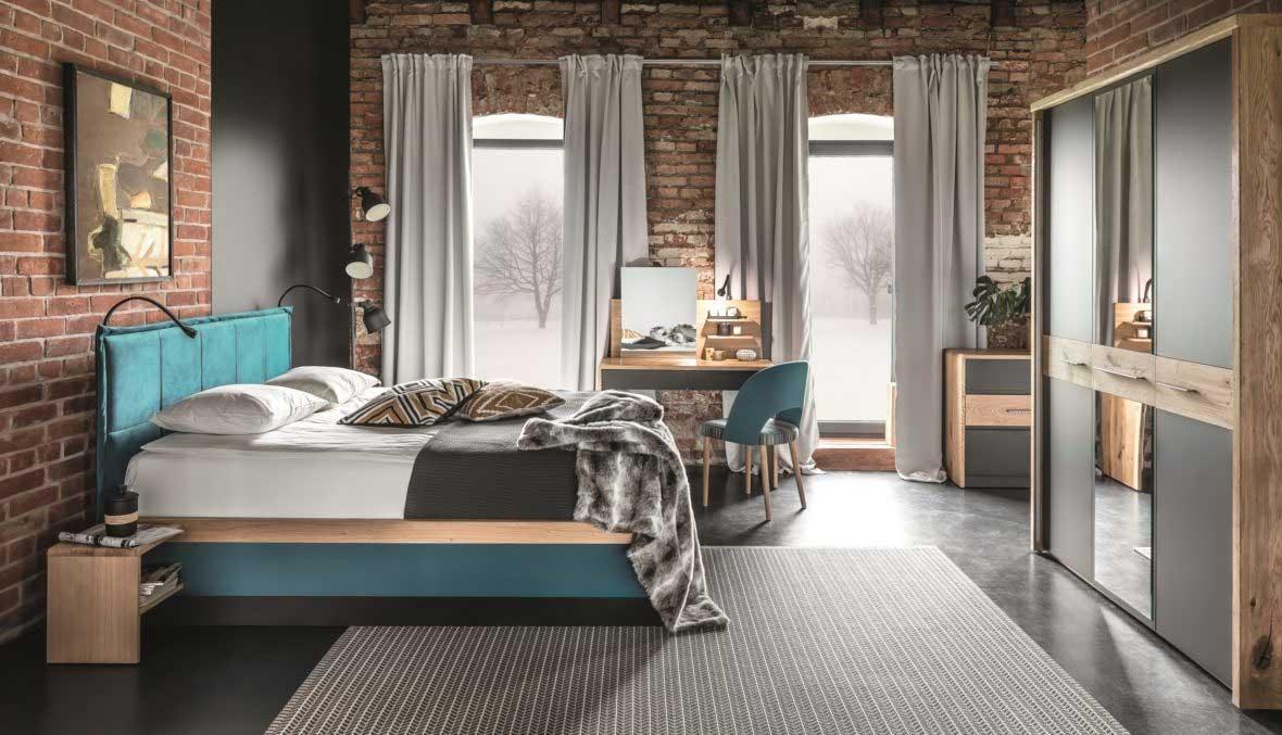 Habitación de hotel con colección de muebles Tívoli. Ambiente 2