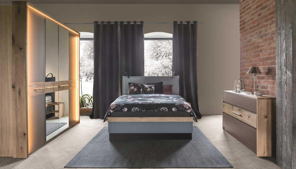 Habitación de hotel con colección de muebles Tívoli. Ambiente 1