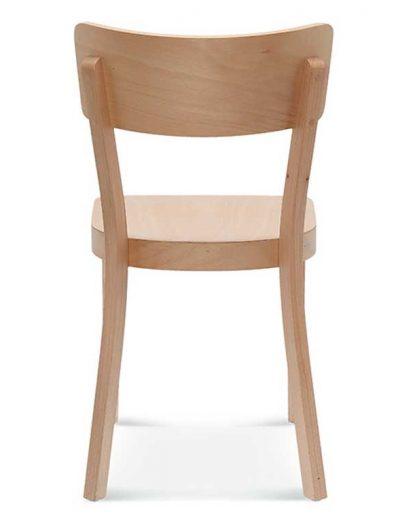 Silla madera de haya o roble Solid, Trasera, para hostelería