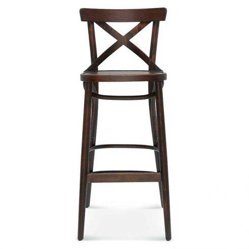 Taburete de bar en madera de haya 8810.1, Frente, para hostelería