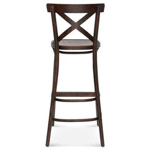 Taburete de bar en madera de haya 8810.1, Trasera, para hostelería