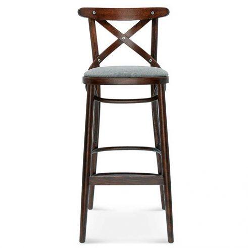 Taburete de bar en madera de haya 8810.2, Frente, para hostelería