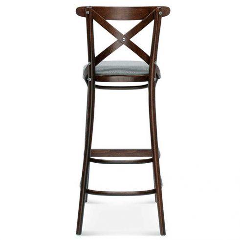 Taburete de bar en madera de haya 8810.2, Trasera, para hostelería