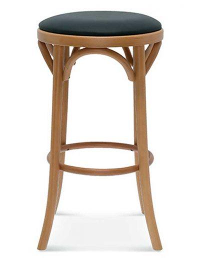 Taburete de bar en madera de haya 9739.1, Perfil, para hostelería