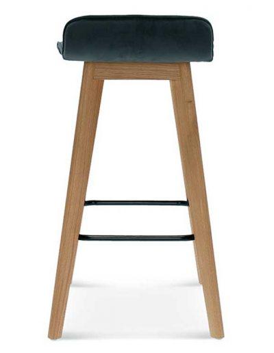 Taburete de bar en madera de haya o roble Cleo 1, Trasera, para hostelería