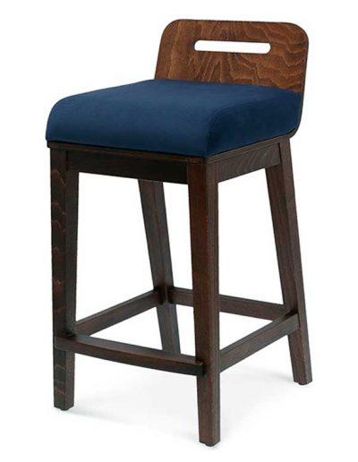Taburete de bar en madera de haya Ray 1. Para hostelería