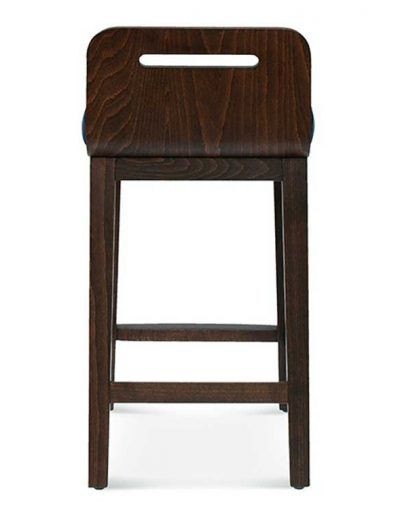 Taburete de bar en madera de haya Ray 1, Trasera, para hostelería