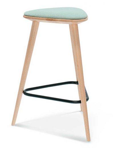 Taburete de bar en madera de haya Finn 1, Perfil, para hostelería