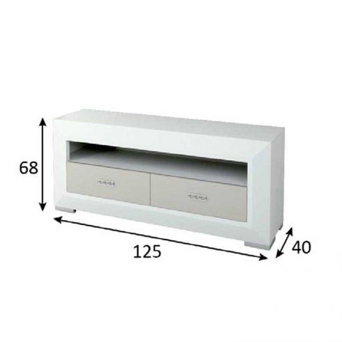 Medidas mueble de tv de 2 cajones y hueco