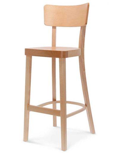 Taburete de bar en madera de haya o roble solid. Para hostelería