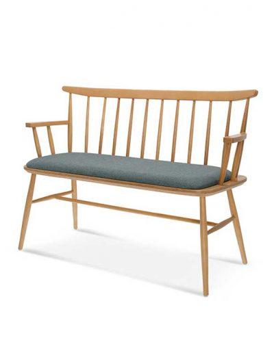 Sofá madera de haya Wand. Para hostelería