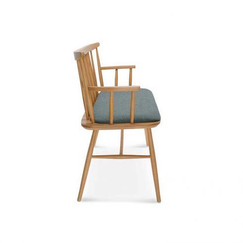 Sofá madera de haya Wand, perfil, para hostelería