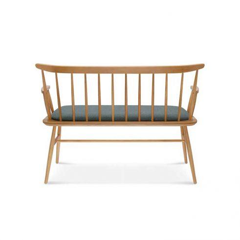 Sofá madera de haya Wand, trasera, para hostelería