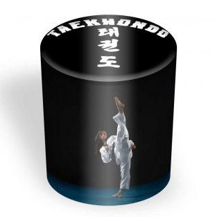 Puff Taburete Redondo Personalizado Taekwondo
