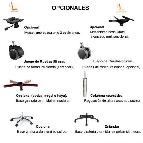 Opcionales Sillones BD-1100 y BC-1102